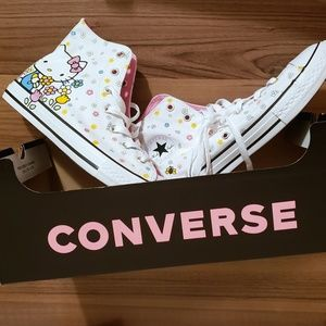 NEW Hello Kitty x Converse All Star High Tops